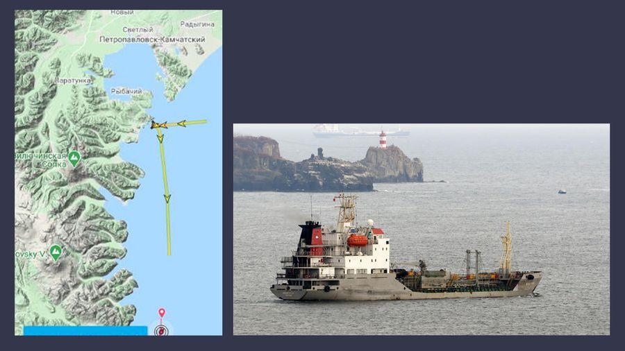 Танкер Belogorsk и его маршрут. Коллаж ©LIFE. Фото © marinetraffic.com / Сергей Шкрябин