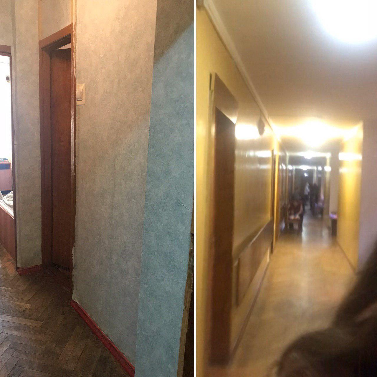 Грязные обои и тёмные коридоры первого экономэтажа. Фото © LIFE