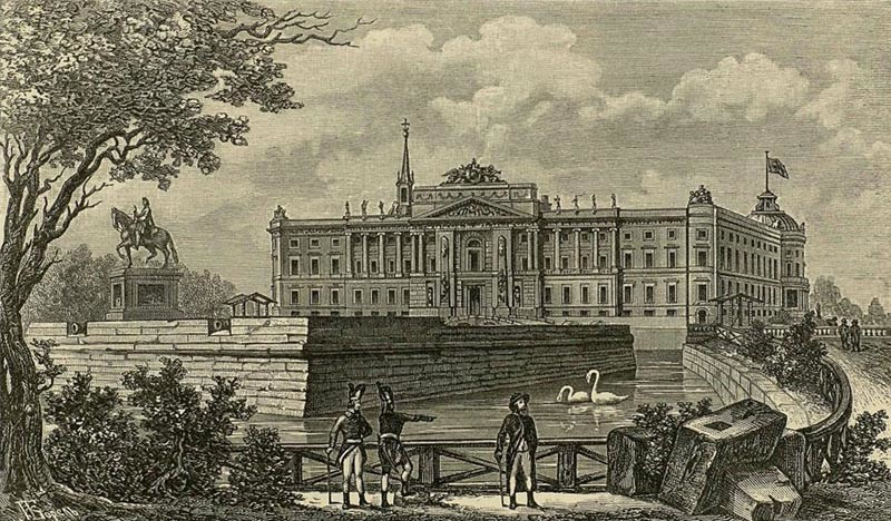 © Гравюра А.И. Даугеля с акварели 1800 года