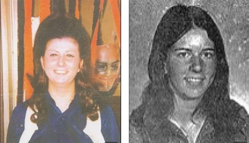 Кэти Вудс в 1972 году (слева) и 17-летняя Пола Бакстер, в убийстве которой её обвинили (справа). Фото © Loevy & Loevy / FBI