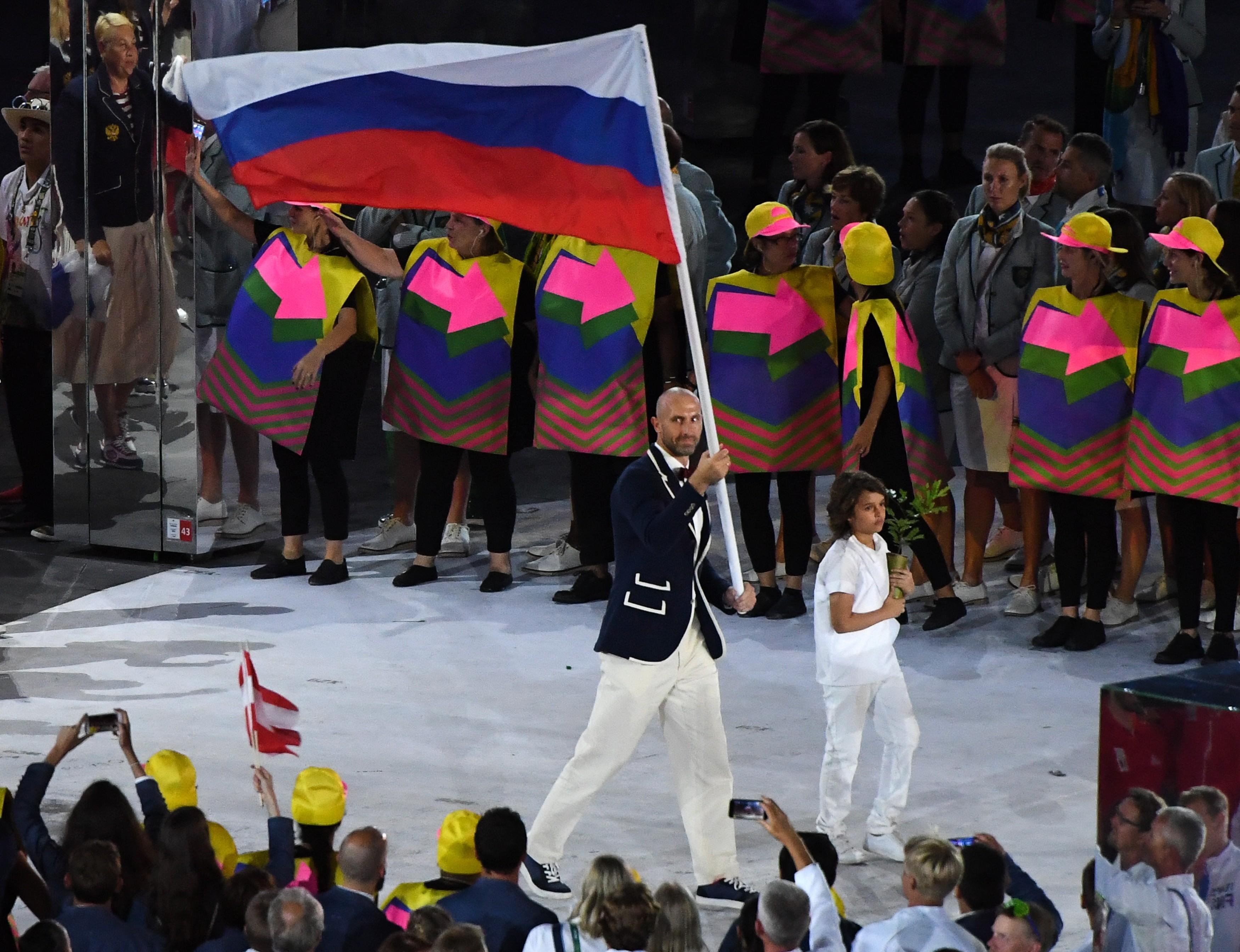 Сергей Тетюхин — знаменосец олимпийской сборной России в Рио-2016. Фото: © РИА Новости/Александр Вильф
