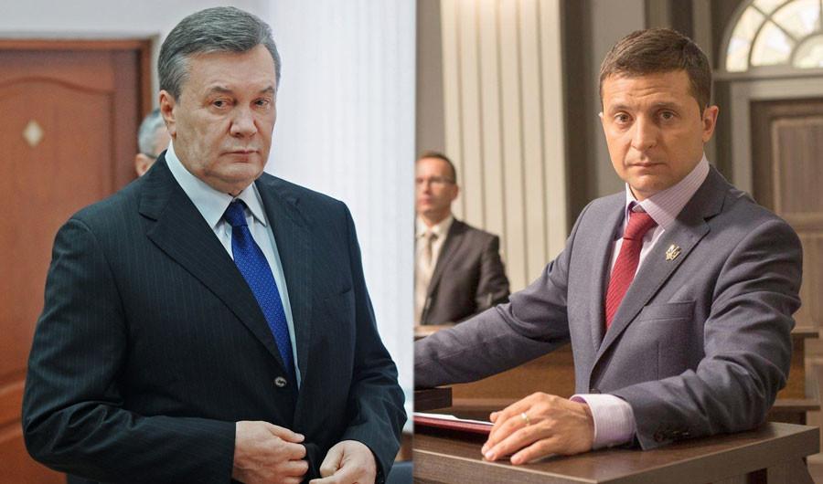 """Виктор Янукович и Владимир Зеленский. Коллаж: © L!FE. Фото: © РИА Новости / Сергей Пивоваров, Facebook / Студия """"Квартал 95"""""""