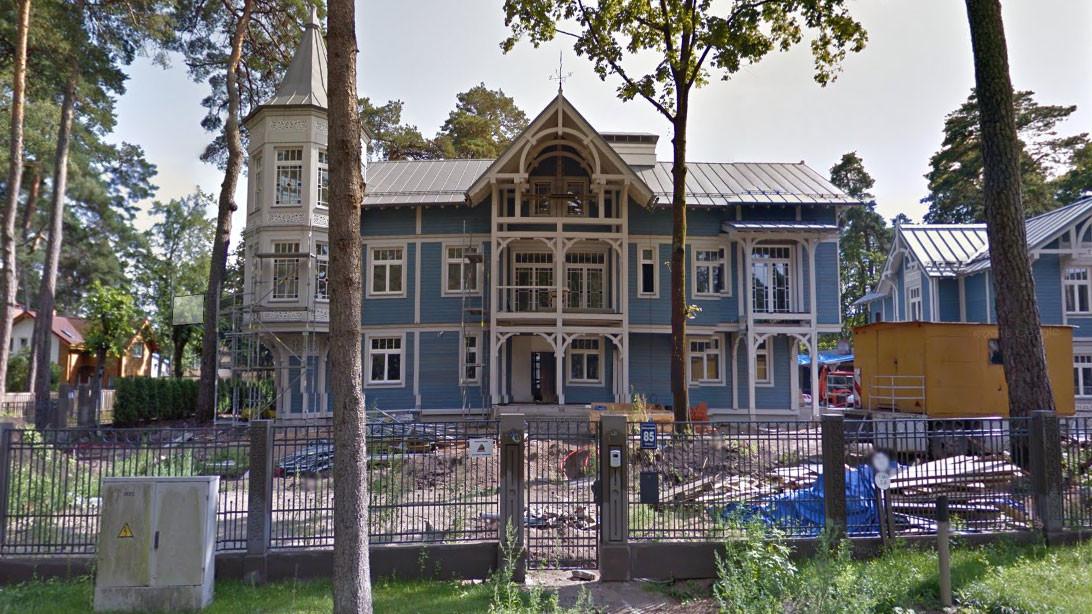 Особняк Шемякина в Юрмале на Bulduru prospektā. Скриншот © Google Maps
