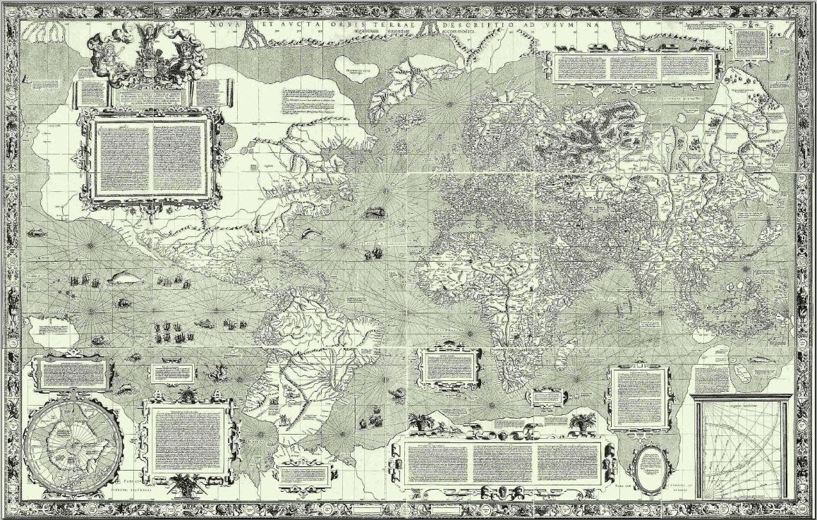 Карта Меркатора. Фото © wikipedia
