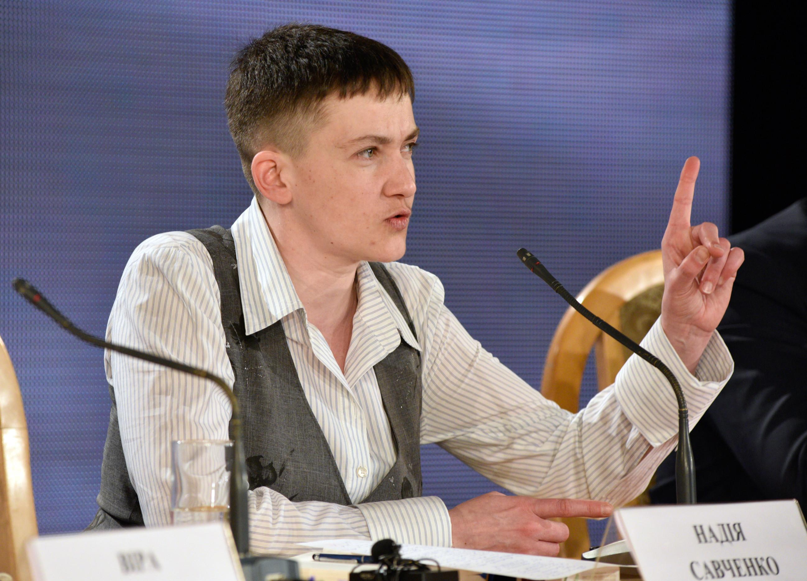 Надежда Савченко в мае 2016 года. Фото: © РИА Новости
