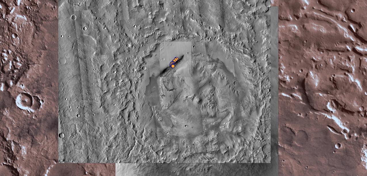 Кратер Гейла, где работает марсоход Curiosity. Фото © NASA