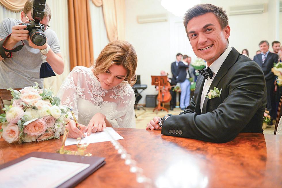 Свадьба Влада Топалова и Ксении Данилиной Фото: L!FE