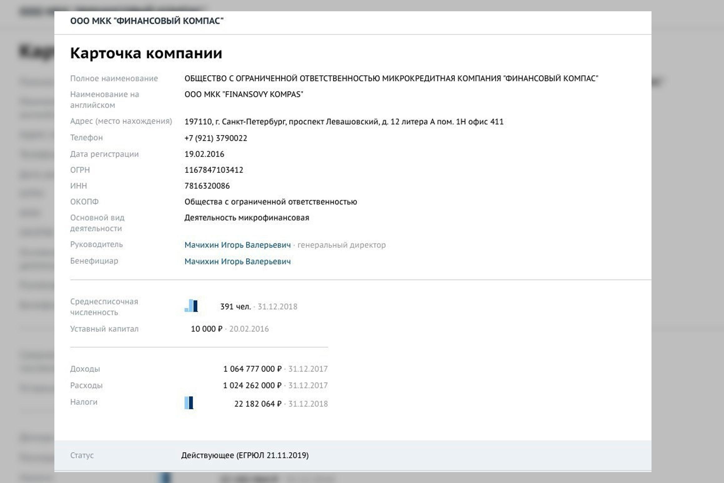 """Фото © Скриншот из """"СПАРК-Интерфакс"""""""