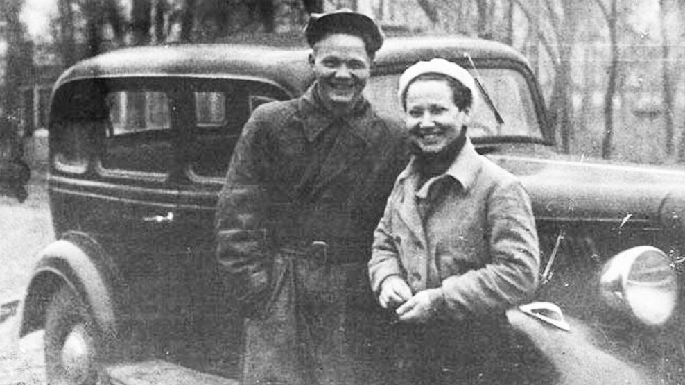 Леонид Хрущёв с Любовью Сизых. Фото © Public Domain