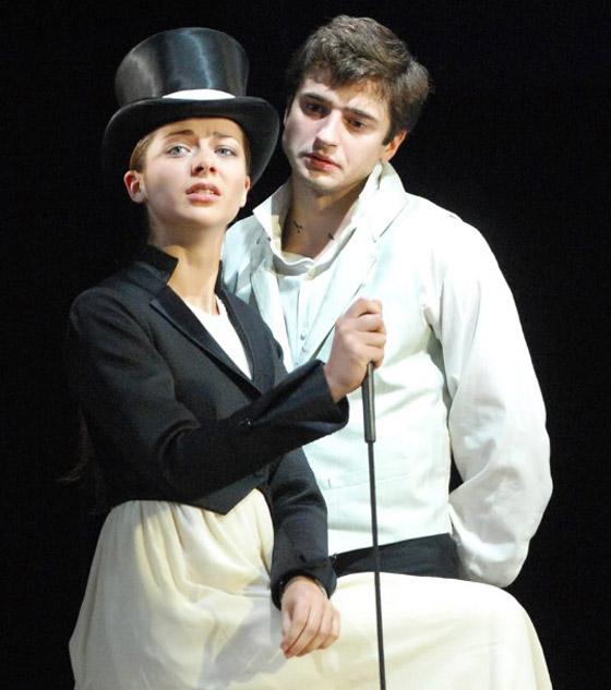 Роман Александровой и Стебунова начался на театральной сцене