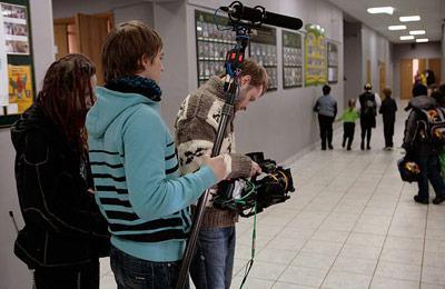 Съемки проходили в обычной московской школе