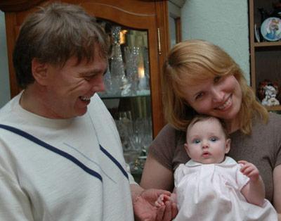 Ольга с мужем и ребенком незадолго до трагедии