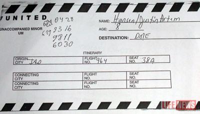 Билет, по которому Артем прилетел в Москву