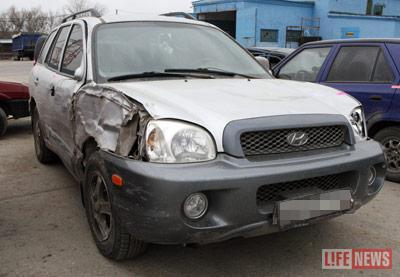 Машина старлея-убийцы сильно повреждена