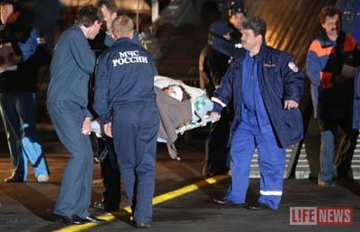 Раненых доставили в Москву