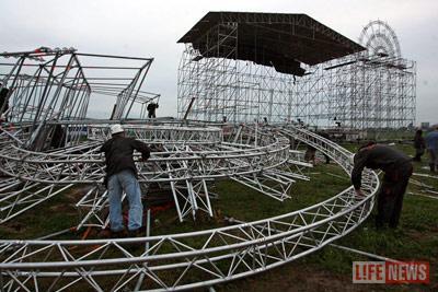 Организаторы концерта так и не смогли восстановить поврежденное оборудование