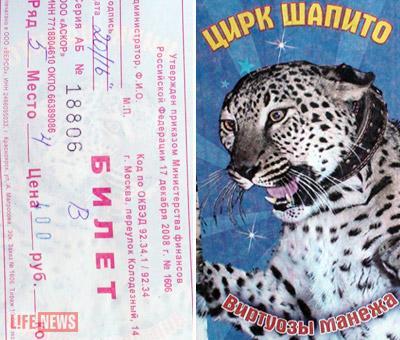 На билете ценой в 400 рублей изображена та самая леопардиха Лулу