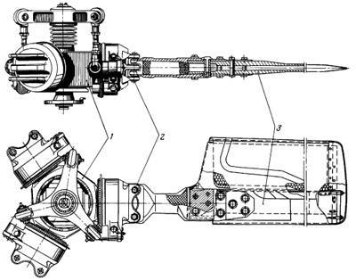 Втулка (деталь 1) обеспечивает вращение лопастей