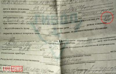 Родственникам погибшего выдали акт, в котором указано: водитель-гаишник был пьян