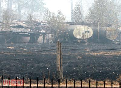 Земля базы ВМФ выгорела почти полностью