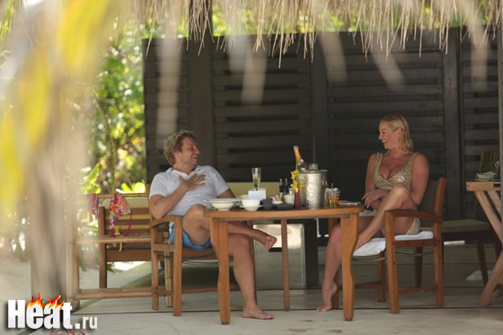 Утро Баскова и Волочковой начиналось с романтического завтрака у виллы