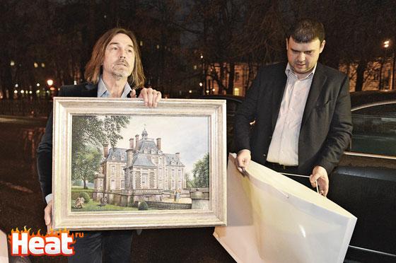 Никас Сафронов изобразил на праздничном полотне замок Галкина