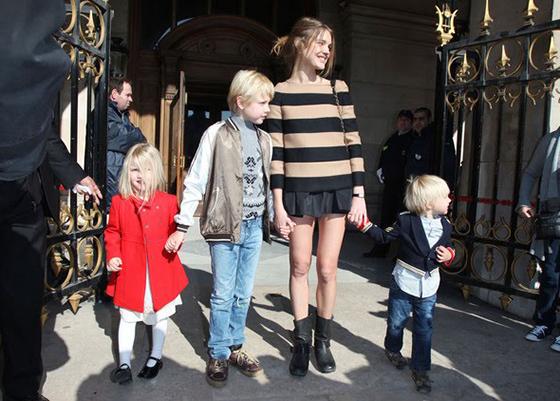 Наталья Водянова с детьми от первого брака