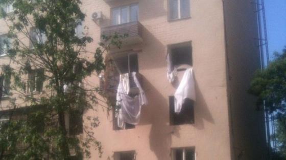 Разрушенный этаж, на котором находится квартира Авраама Руссо