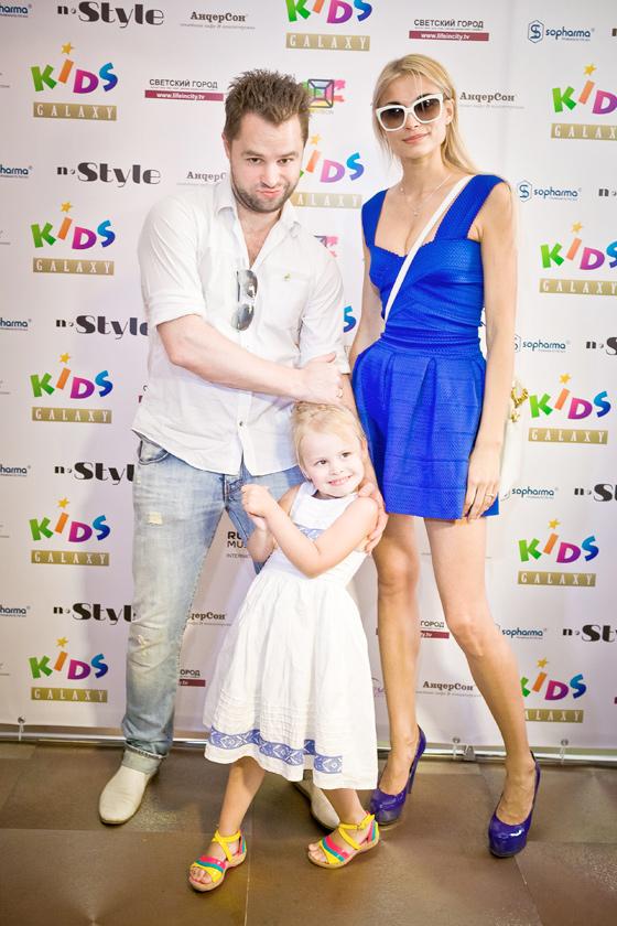 Виталий Гогунский с женой Ириной и дочкой Миланой