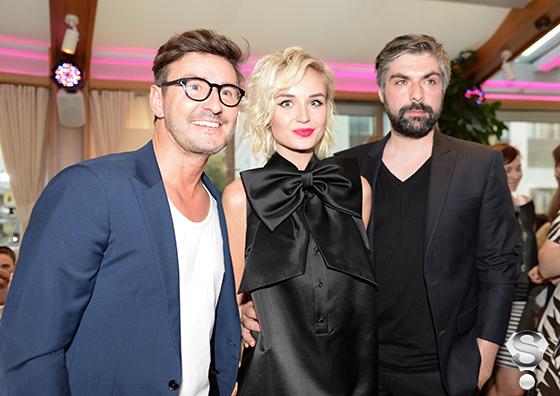 Фотограф Владимир Широков , певица Полина Гагарина и фотограф Дмитрий Исхаков