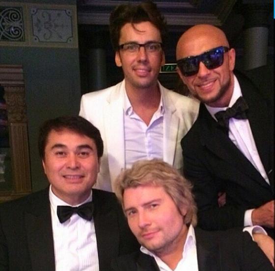 Роман Давлетьяров (МузТв), Максим Галкин, Игорь Гуляев и Николай Басков