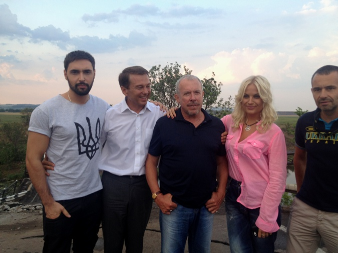 Андрей Макаревич с украинскими артистами в Славянске