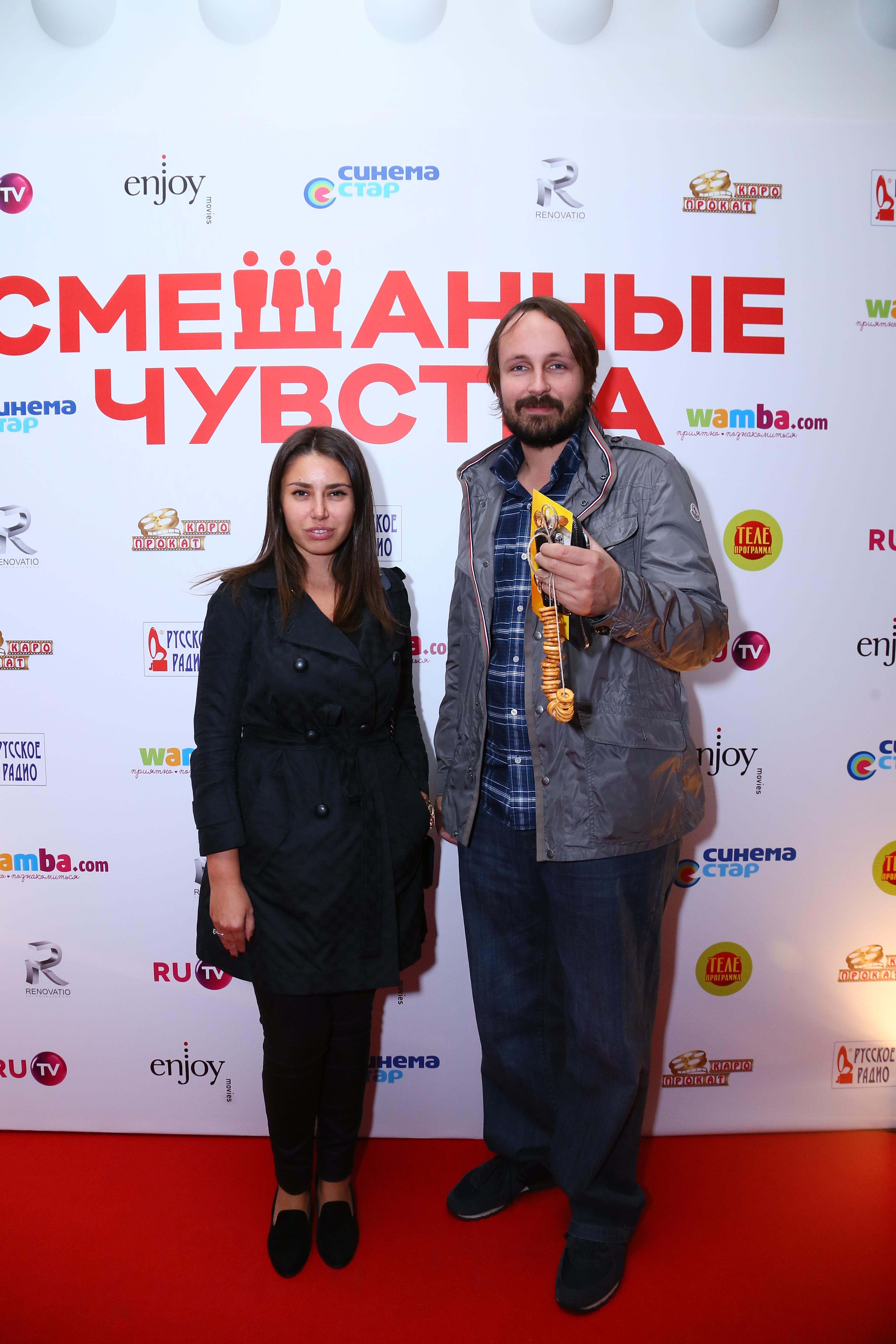 Режиссер Павел Худяков с женой Корнелией