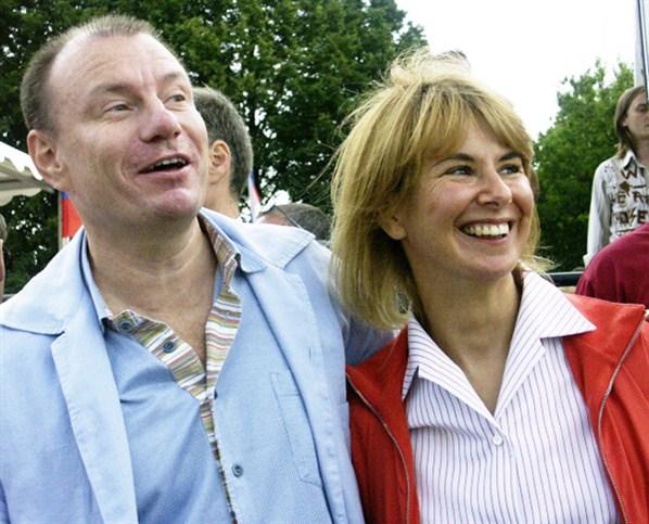 Владимир Потанин с бывшей женой Натальей
