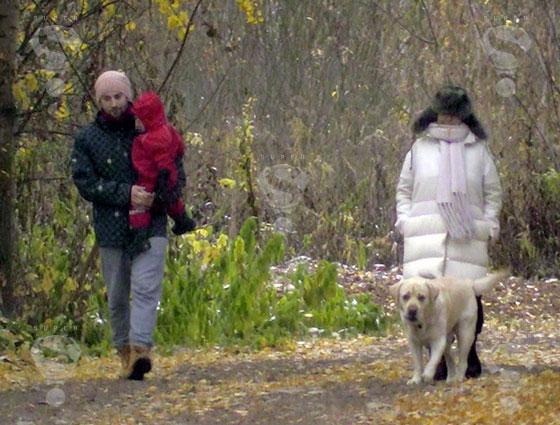 Певица Жанна Фриске с мужем Дмитрием Шепелевым и сыном Платоном