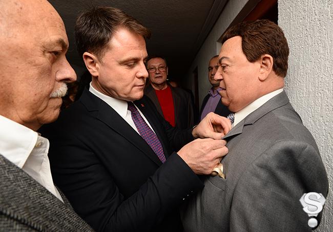 Губернатор Тульской области Владимир Груздев и Иосиф Кобзон