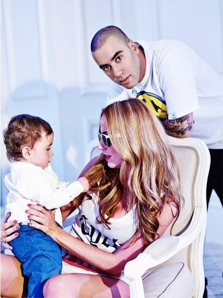 певец Slim с женой Еленой и сыном Лео