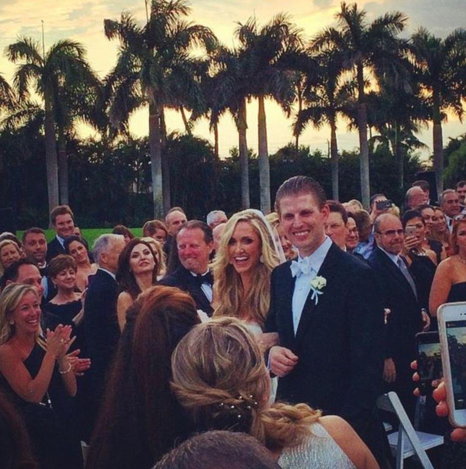 посетителю намного свадьба фото эрик трамп сын трампа свою