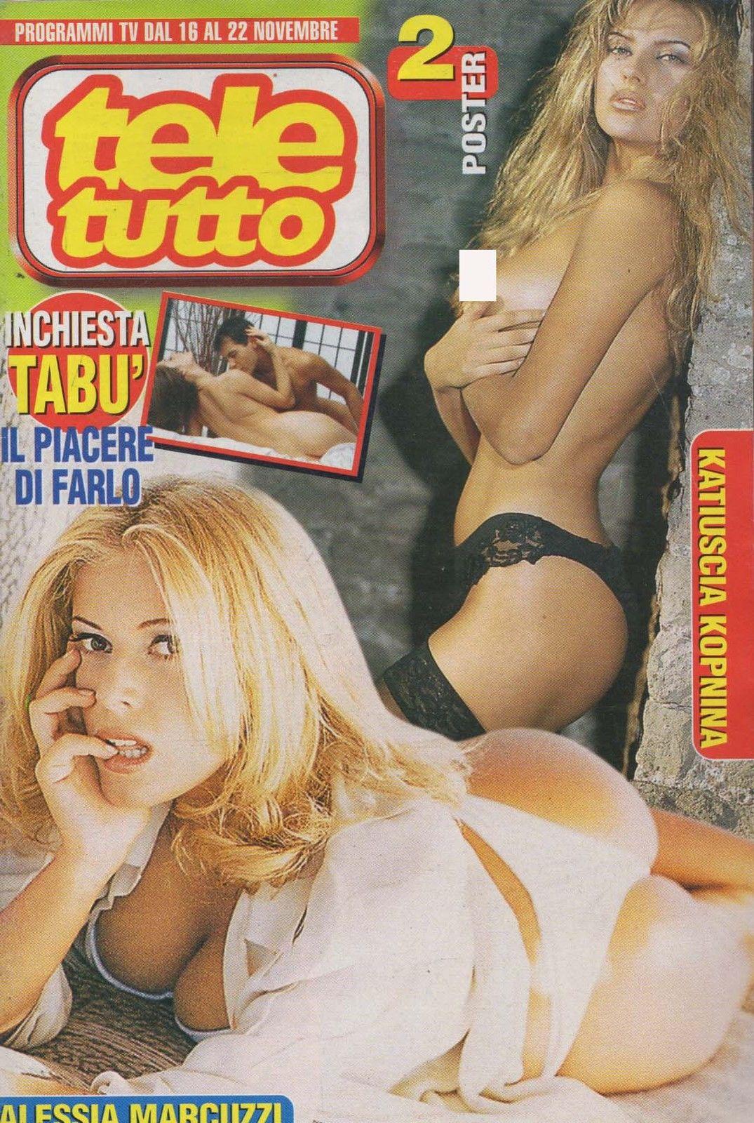 Екатерина Архарова (справа) на обложке итальянского Teletutto. 1997 год
