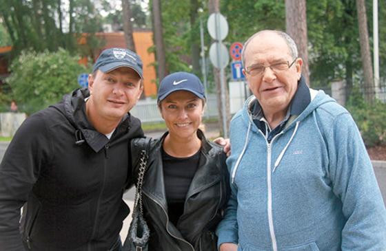 Марат Башаров вместе с женой и ее дядей — заслуженным артистом России Эммануилом Виторганом