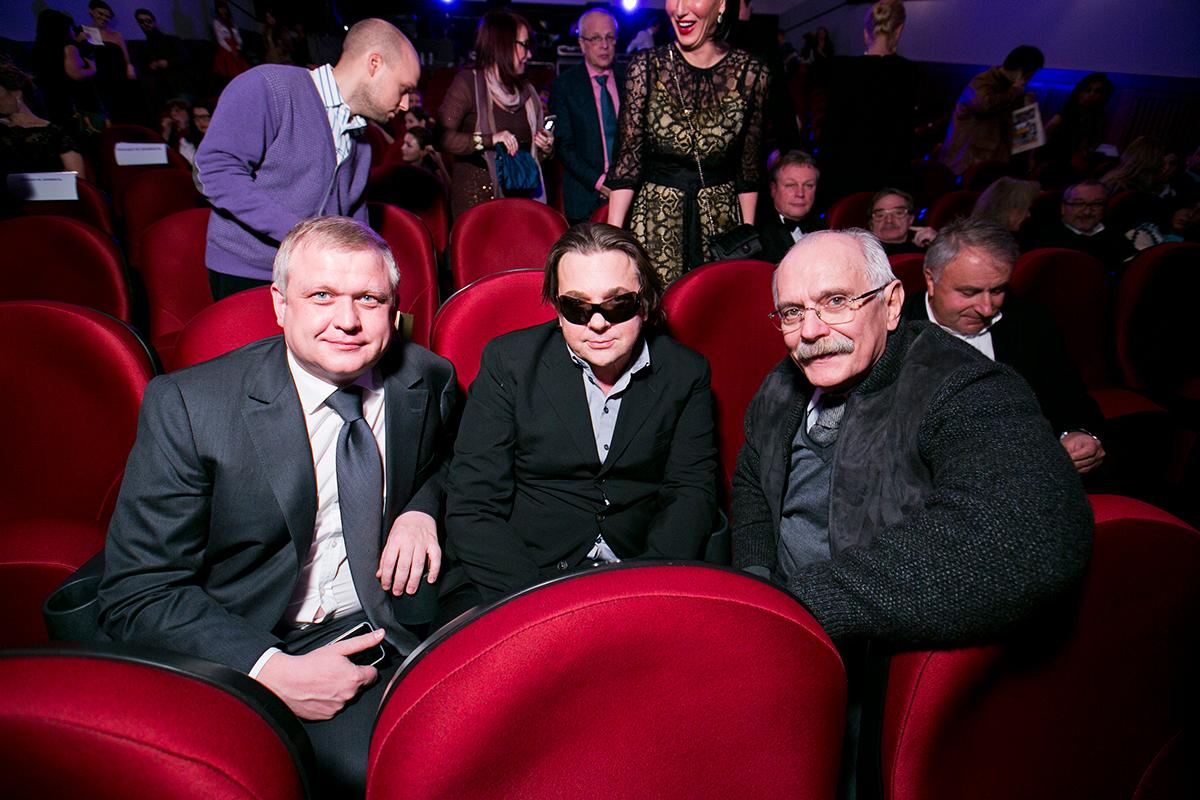 Руководитель Департамента культуры Сергей Капков (слева), Константин Эрнст и Никита Михалков