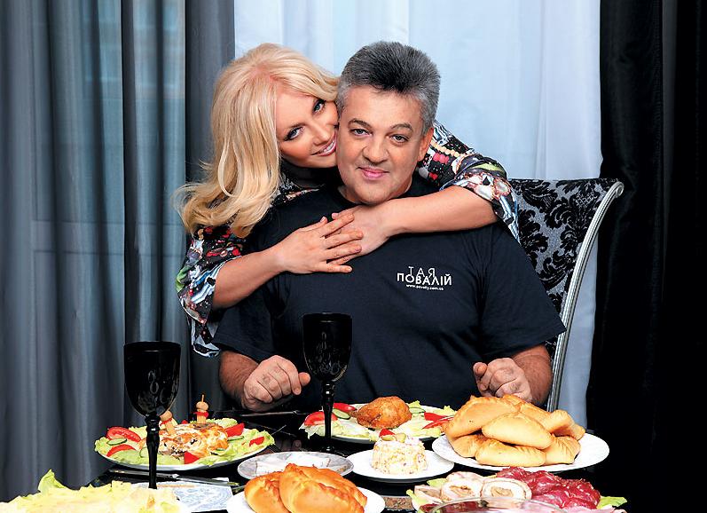 Таисия Повалий с мужем Игорем Лихутой