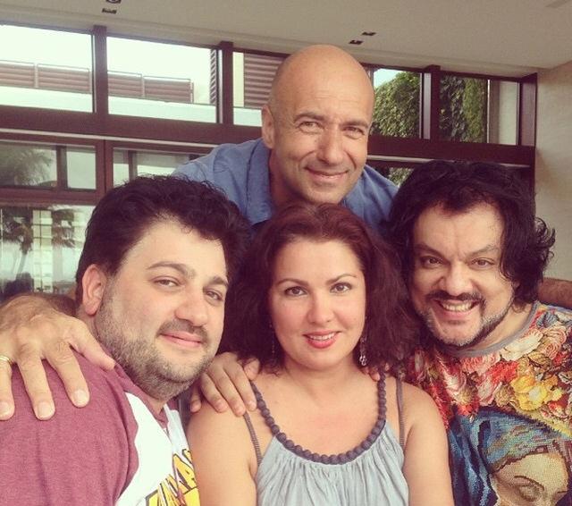 Игорь Крутой, Анна Нетребко с мужем и Филипп Киркоров в гостях у Александра Когана
