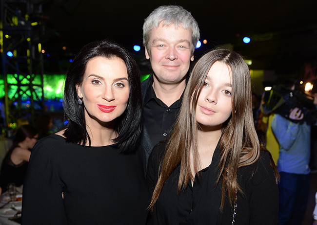 Екатерина и Александр Стриженовы с дочерью Александрой