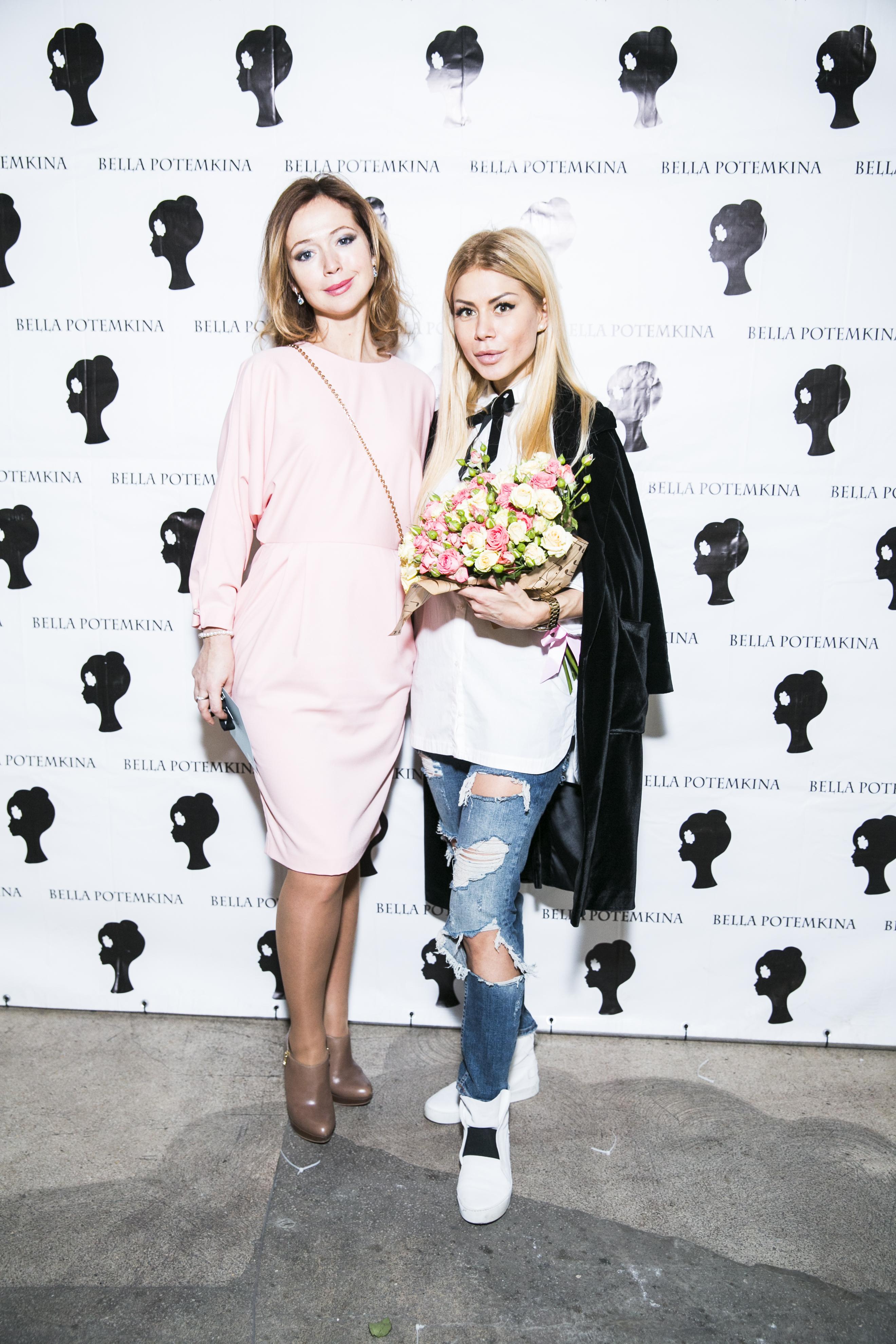 Актриса Елена Захарова и дизайнер Белла Потемкина