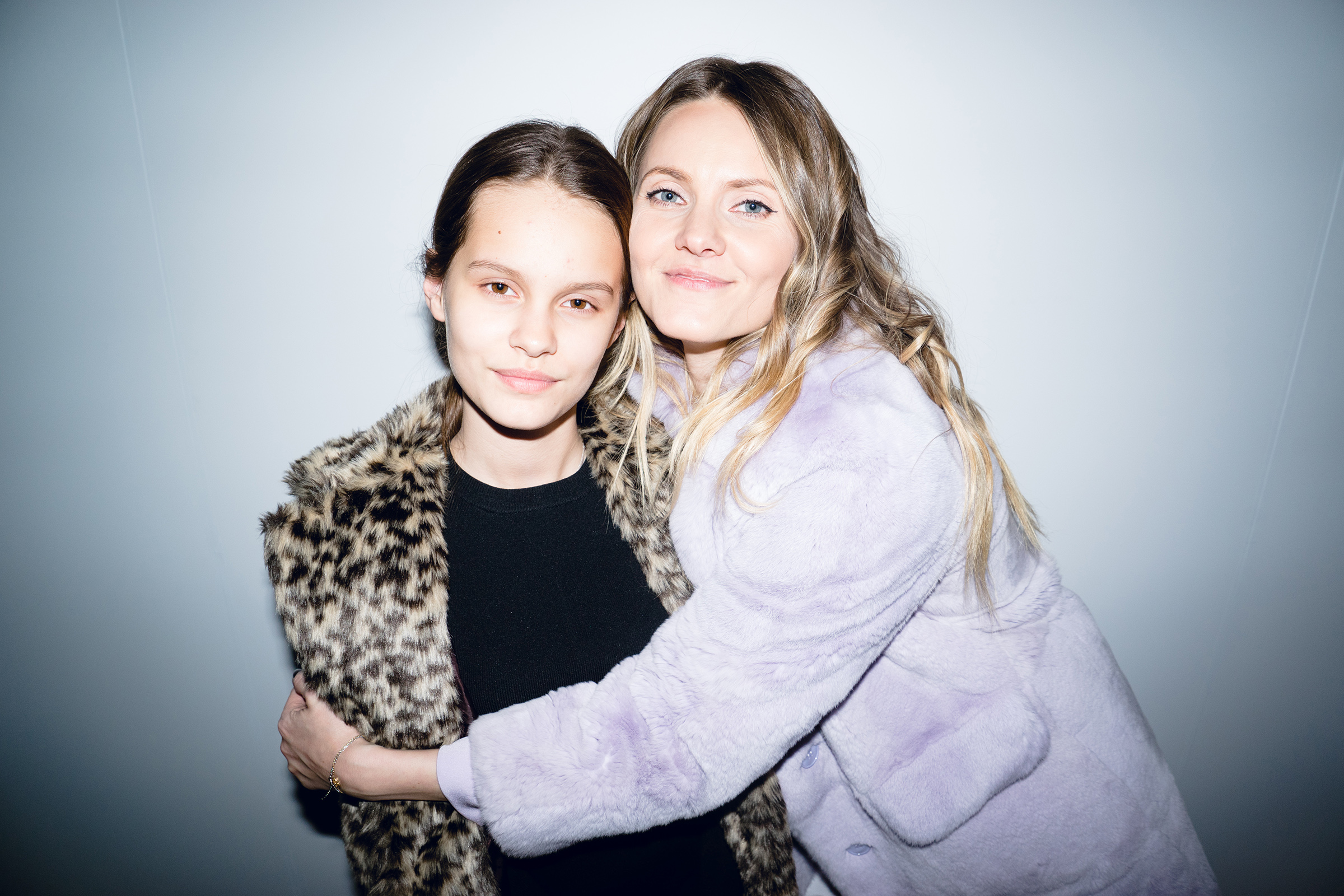 Стилист Катя Мухина с дочерью