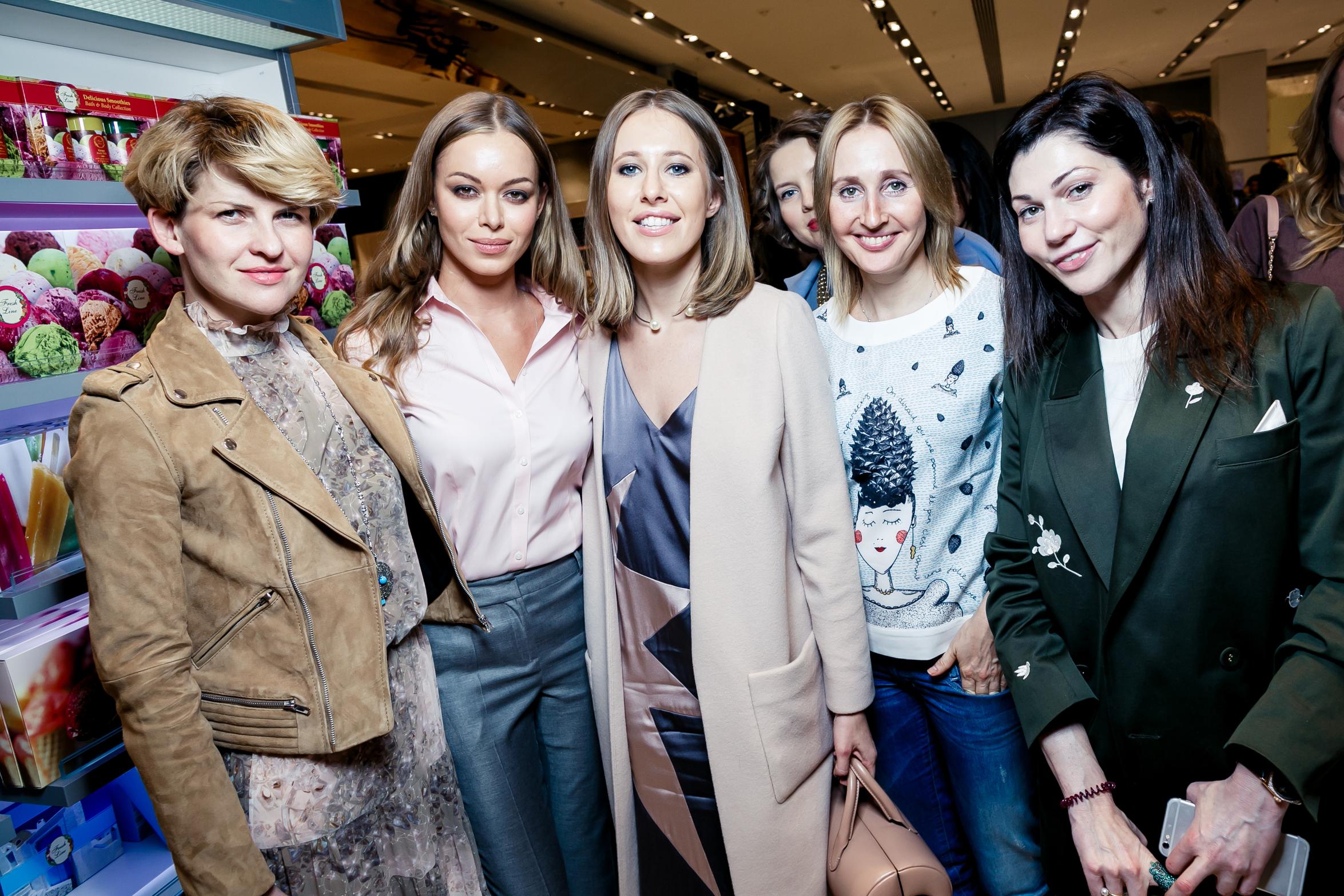 Полина Киценко, Анастасия Романцова, Ксения Собчак, Оксана Бондаренко, Евгения Линович