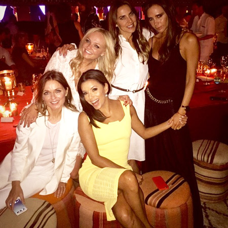 Группа Spice Girls и актриса Ева Лонгория