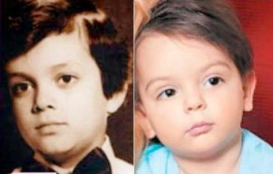 Филипп Киркоров (слева) и сын Анастасии Стоцкой Александр (справа)