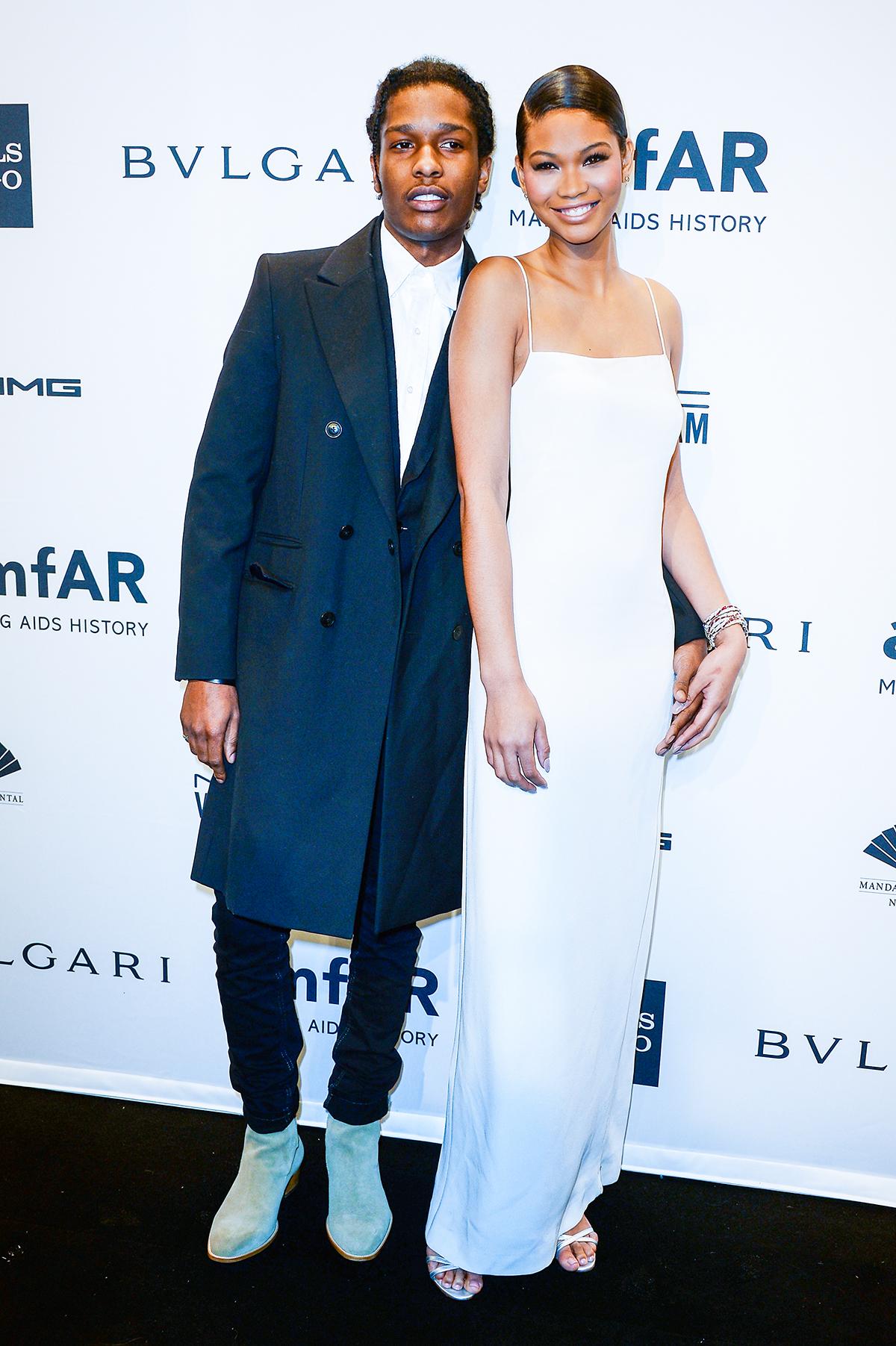 ASAP Rocky и модель Шанель Иман
